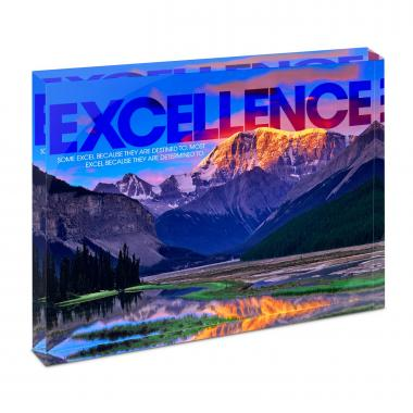 Excellence Mountain Infinity Edge Acrylic Desktop