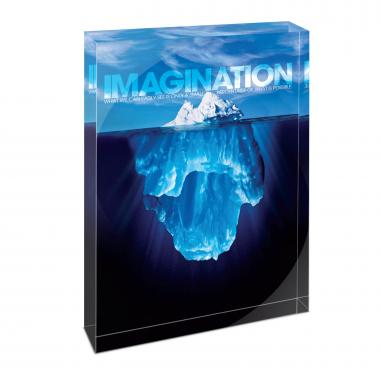 Imagination Iceberg Infinity Edge Acrylic Desktop