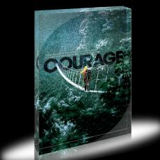 Courage Hiker Infinity Edge Acrylic Desktop