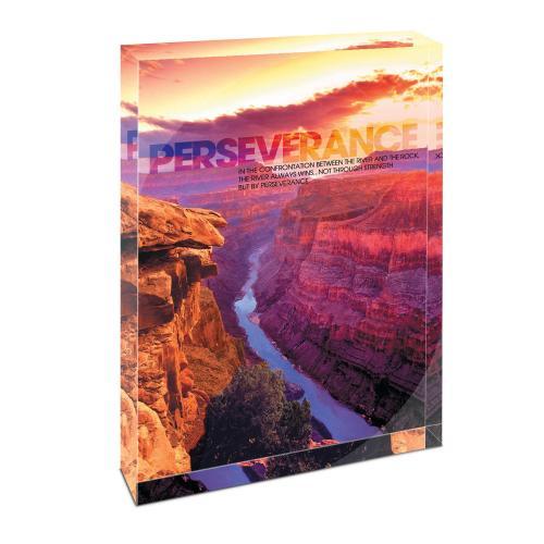 Perseverance Grand Canyon Infinity Edge Acrylic Desktop