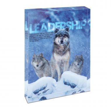 Leadership Wolves Infinity Edge Acrylic Desktop