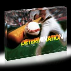 Determination Baseball Infinity Edge Acrylic Desktop