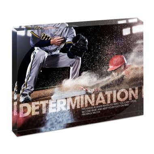 Determination Baseball Infinity Edge Acrylic Desktop