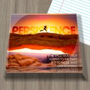 Persistence Runner Infinity Edge Acrylic Paperweight