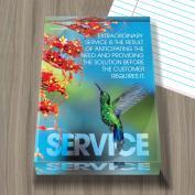 Service Hummingbird Infinity Edge Acrylic Paperweight