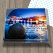 Attitude Boulder Infinity Edge Acrylic Paperweight