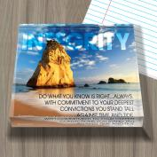 Integrity Rock Infinity Edge Acrylic Paperweight