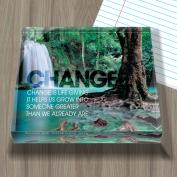 Change Forest Falls Infinity Edge Acrylic Paperweight