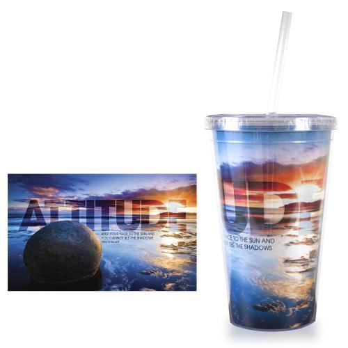 Attitude Boulder 16oz Acrylic Straw Tumbler