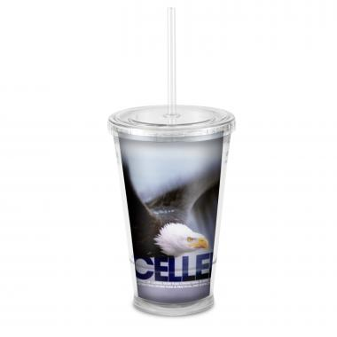 Excellence Eagle 16oz Acrylic Straw Tumbler