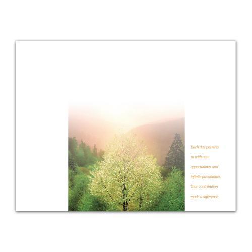Success Sunrise Tree Certificate Paper