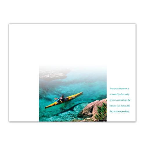 Character Kayaker Certificate Paper
