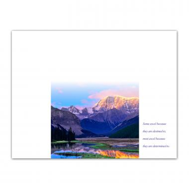 Excellence Mountain Certificate Paper