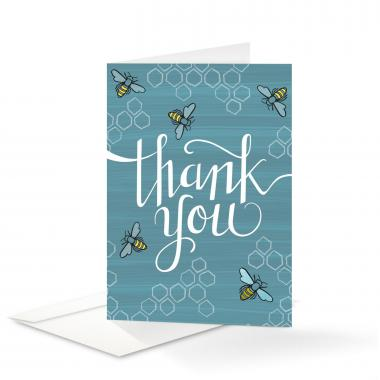 Bee Thank You Card 25 Pack