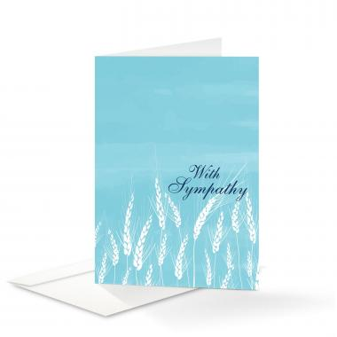 Wheat Sympathy Card 25 Pack