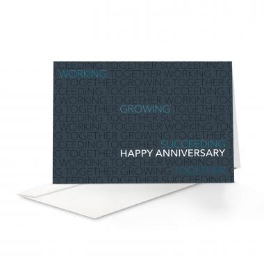 Blue Together Anniversary Card 25 Pack