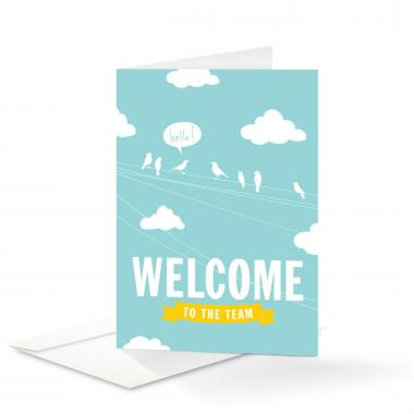 Birds Welcome Card 25 Pack