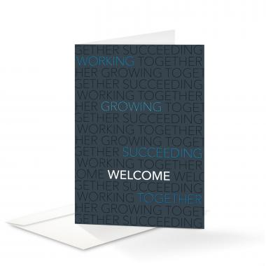 Blue Together Welcome Card 25 Pack