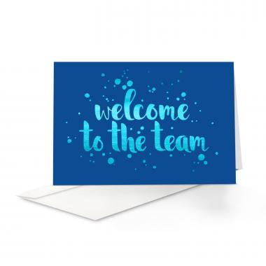 Blue Shimmer Welcome Card 25 Pack