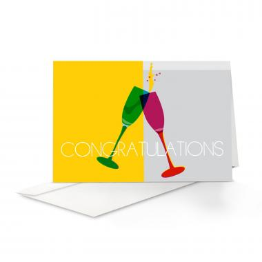 Cheers Congratulations Card 25 Pack