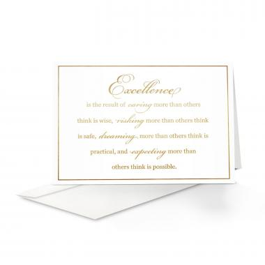 Excellence Greeting Card 25 Pack