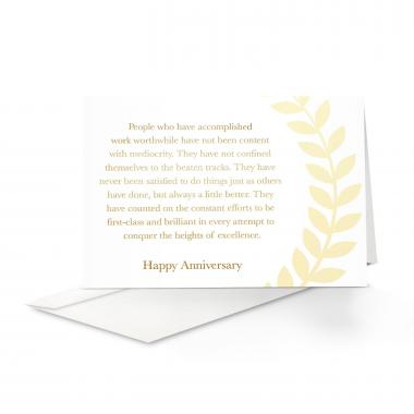 Years of Service Anniversary Card 25 Pack
