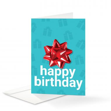 Bow Birthday Card 25 Pack