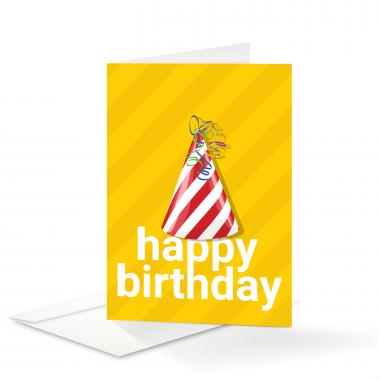 Party Hat Birthday Card 25 Pack