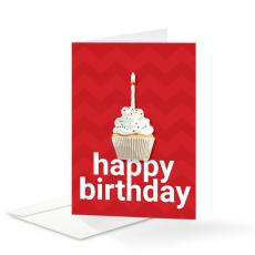 Birthday Cards - Cupcake Birthday Card 25 Pack
