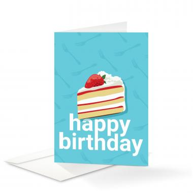 Cake Birthday Card 25 Pack