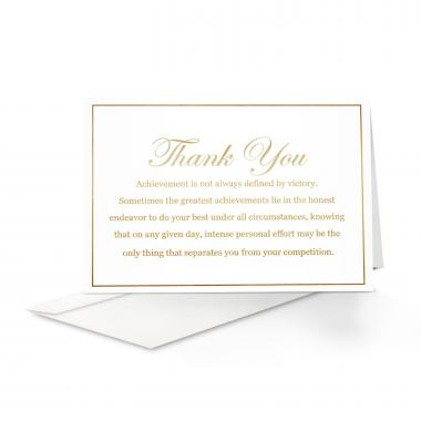 Achievement Thank You Card 25 Pack