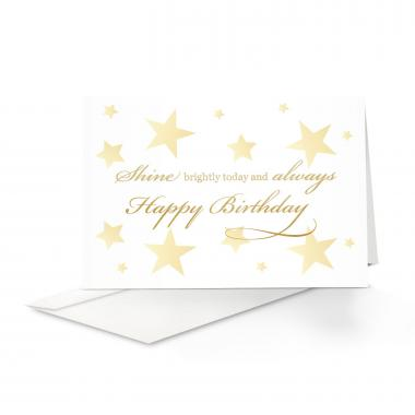 Shine Bright Birthday Card 25 Pack