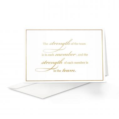 Strength Welcome Card 25 Pack