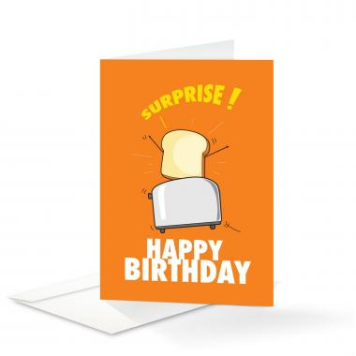 Toast Birthday Card 25 Pack
