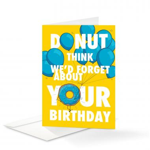 Donut Birthday Card 25 Pack
