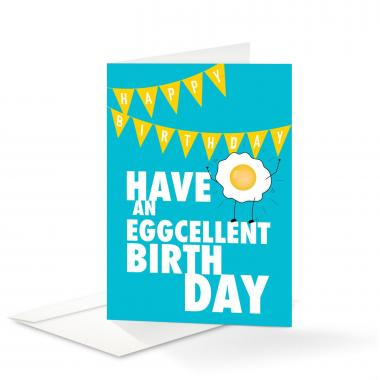 Eggcellent Birthday Card 25 Pack