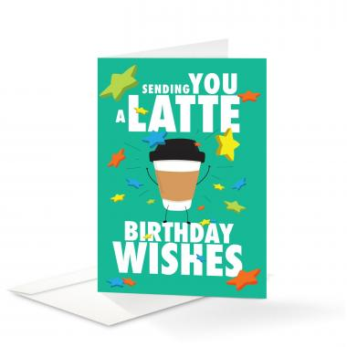 Latte Birthday Card 25 Pack