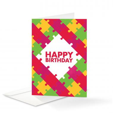 Puzzle Happy Birthday Card 25 Pack