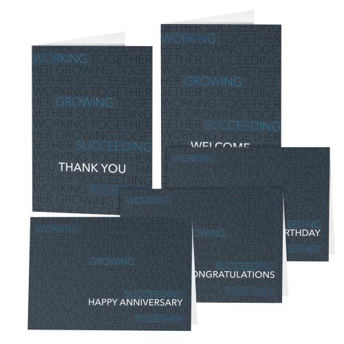 Blue Foil Together Card Sampler