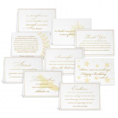 Gold Foil Card Sampler Pack