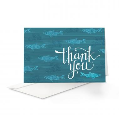 Fish Thank You Card 25 Pack