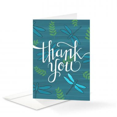 Dragonfly Thank You Card 25 Pack