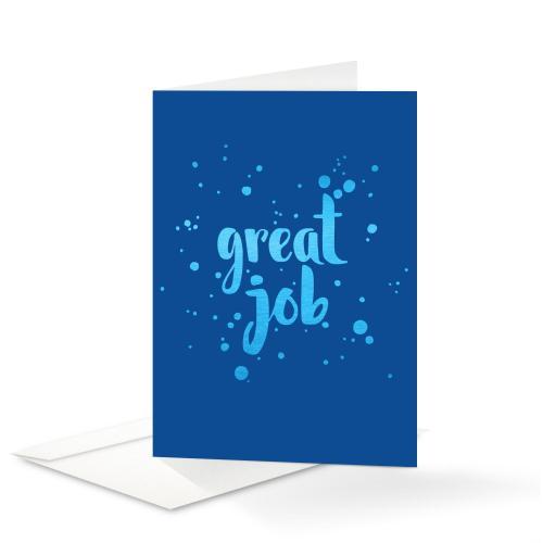 Blue Shimmer Great Job Card 25 Pack