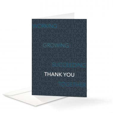 Blue Together Thank You Card 25 Pack