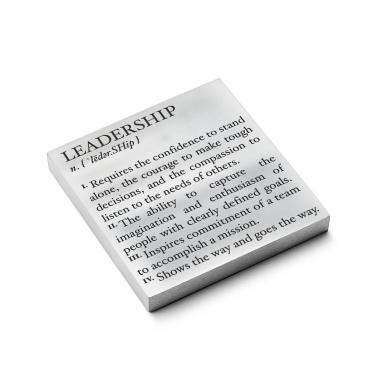 Leadership Definition - Personalized Metal Paperweight
