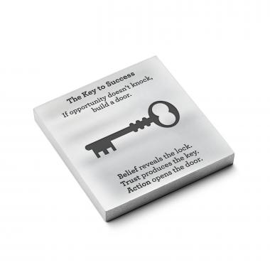 Key to Success - Personalized Metal Paperweight