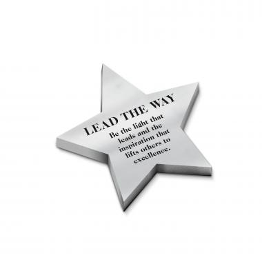 Lead the Way - Personalized Star Metal Paperweight