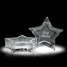 Glass & Crystal Gifts - Star Cache Box