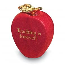 Education - Apple Marble Paperweight