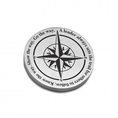 Leadership Compass - Personalized Metal Paperweight